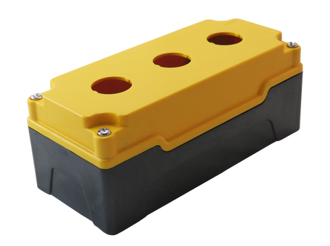 25mm Yellow Push Button Box 3 Station