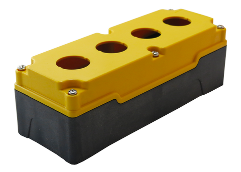 30mm Yellow Push Button Box 4 Station