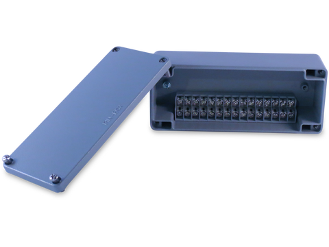 Enclosure with Terminal Block, Side Mounted, 15 Circuits, Cast Aluminum with Solid Cover V.2