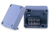 Enclosure with Terminal Block, Side Mounted, 4 Circuits, Cast Aluminum with Solid Cover