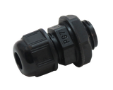 Side view of black Nylon Cable Gland PG07
