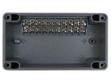 Enclosure with Terminal Block, Side Mounted, 10 Circuits, Cast Aluminum with Solid Cover