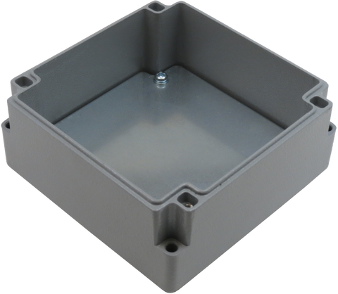 IP67 Aluminum Project Box with Base Plate | 110mm x 110mm x 52mm