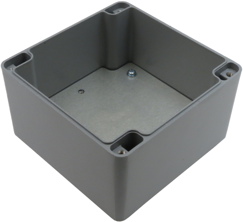 IP67 Aluminum Project Box with Base Plate | 120mm x 120mm x 80mm