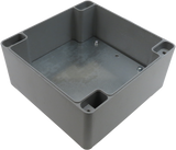 IP67 Aluminum Project Box with Base Plate | 160mm x 160mm x 90mm