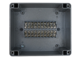 Enclosure with Terminal Block, Center Mounted, 20 Circuits, Cast Aluminum with Solid Cover