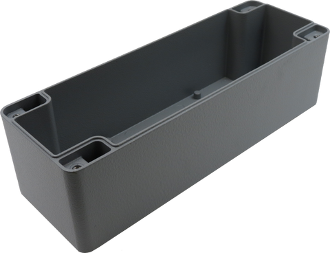 IP67 Aluminum Project Box with Base Plate | 235mm x 80mm x 80mm