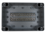 Enclosure with Terminal Block, Center Mounted, 30 Circuits, Cast Aluminum with Solid Cover