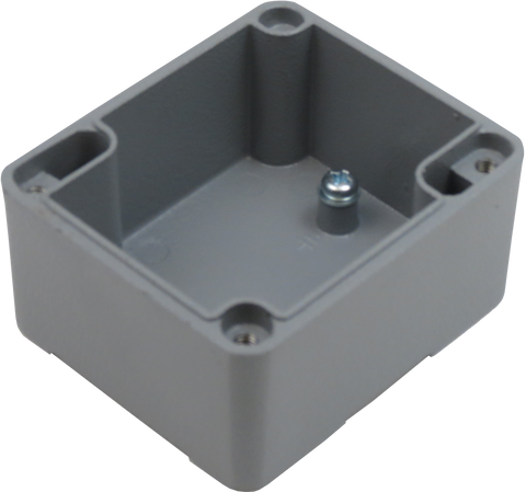 IP67 Aluminum Project Box with Base Plate | 61mm x 71mm x 48mm