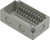 Enclosure with Terminal Block, Side Mounted, 10 Circuits, Ivory ABS with Solid Cover