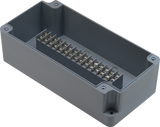 Enclosure with 15 Circuit Terminal Block Grey ABS Solid Cover