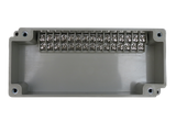 Enclosure with Terminal Block, Side Mounted, 15 Circuits, Ivory ABS with Solid Cover