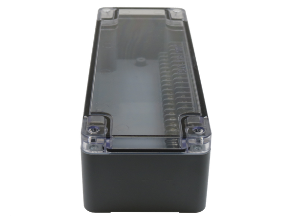 Enclosure With 20 Circuit Terminal Block Grey Abs Clear Cover