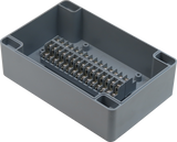 Enclosure with 30 Circuit Terminal Block Grey ABS Solid Cover