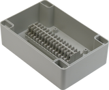 Enclosure with Terminal Block, Center Mounted, 30 Circuits, Ivory ABS with Solid Cover