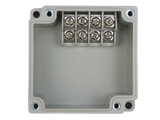 Enclosure with Terminal Block, Side Mounted, 4 Circuits, Ivory ABS with Solid Cover