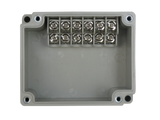 6 Position Terminal Enclosure top view of dual row style side terminal with cover removed