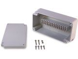 Enclosure with 15 Circuit Terminal Block Ivory ABS Solid Cover