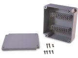 Enclosure with Terminal Block, Center Mounted, 20 Circuits, Ivory ABS with Solid Cover