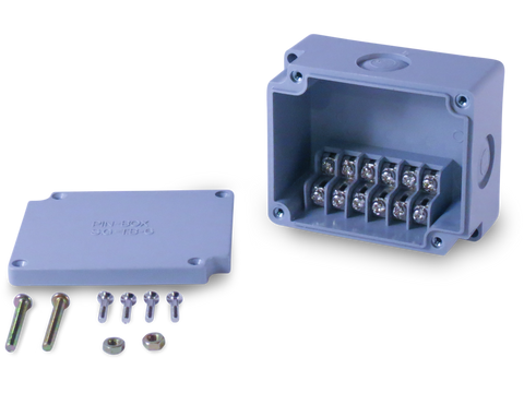 Enclosure with 6 Circuit Terminal Block Dual Row Grey