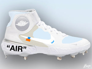OFF-WHITE Inspired Huarache 3 Metal Baseball Cleats