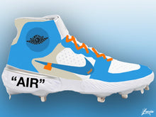 Load image into Gallery viewer, OFF-WHITE Inspired Huarache 3 Metal Baseball Cleats