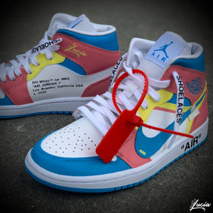 OFF WHITE-Inspiration Jordan 1 (Sneakers Included)