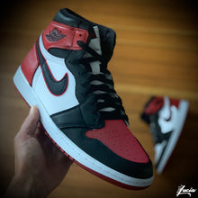 "Load image into Gallery viewer, ""Bloodline"" Air Jordan 1 Customization (Customer Supplies Shoes)"