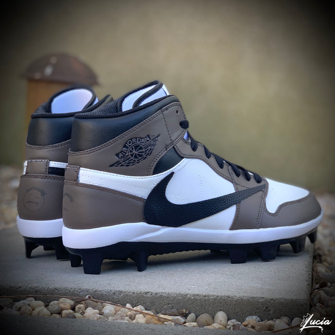Travi$ Scott-Inspired AJ1 Baseball/Football Cleats (Cleats Included)