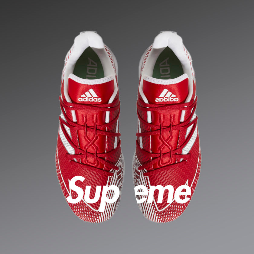 Supreme-Inspired Cleats (Cleats Included)