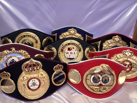 boxing belts organizations championship belts
