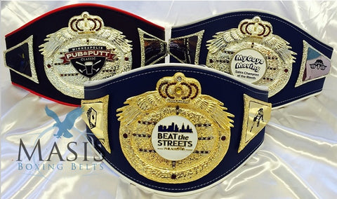 crown and wings style championship belts