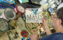hand paint our own medallions