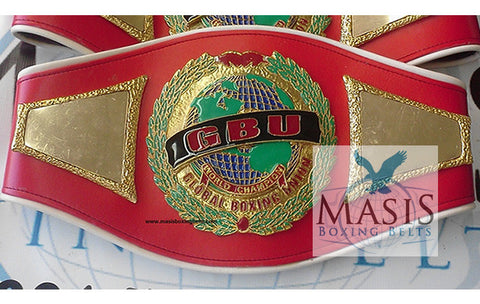 global boxing union championship belts