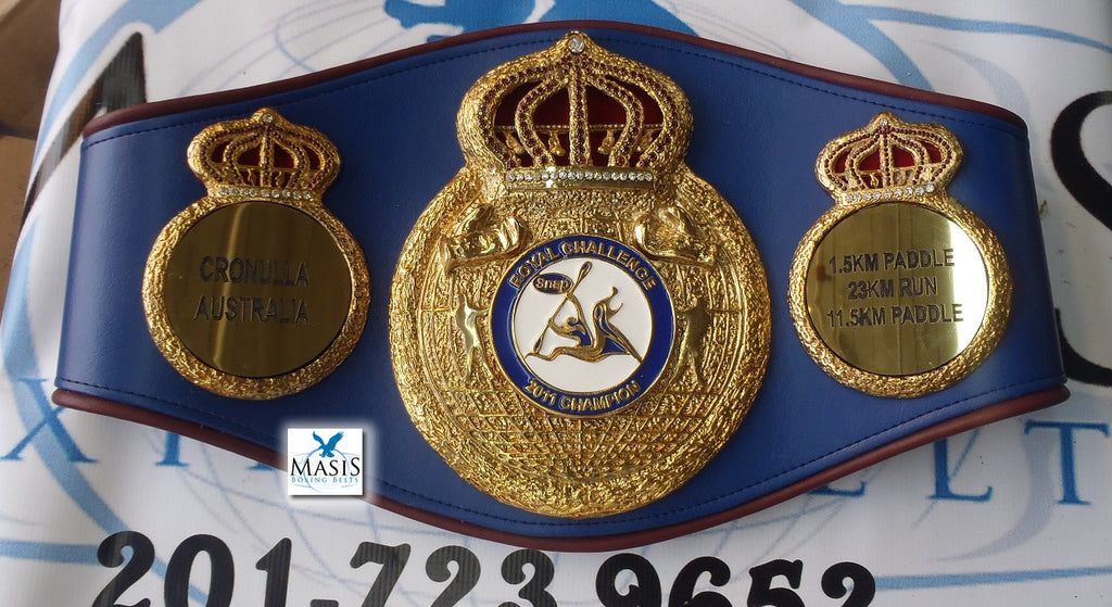 triple crown style championship belts