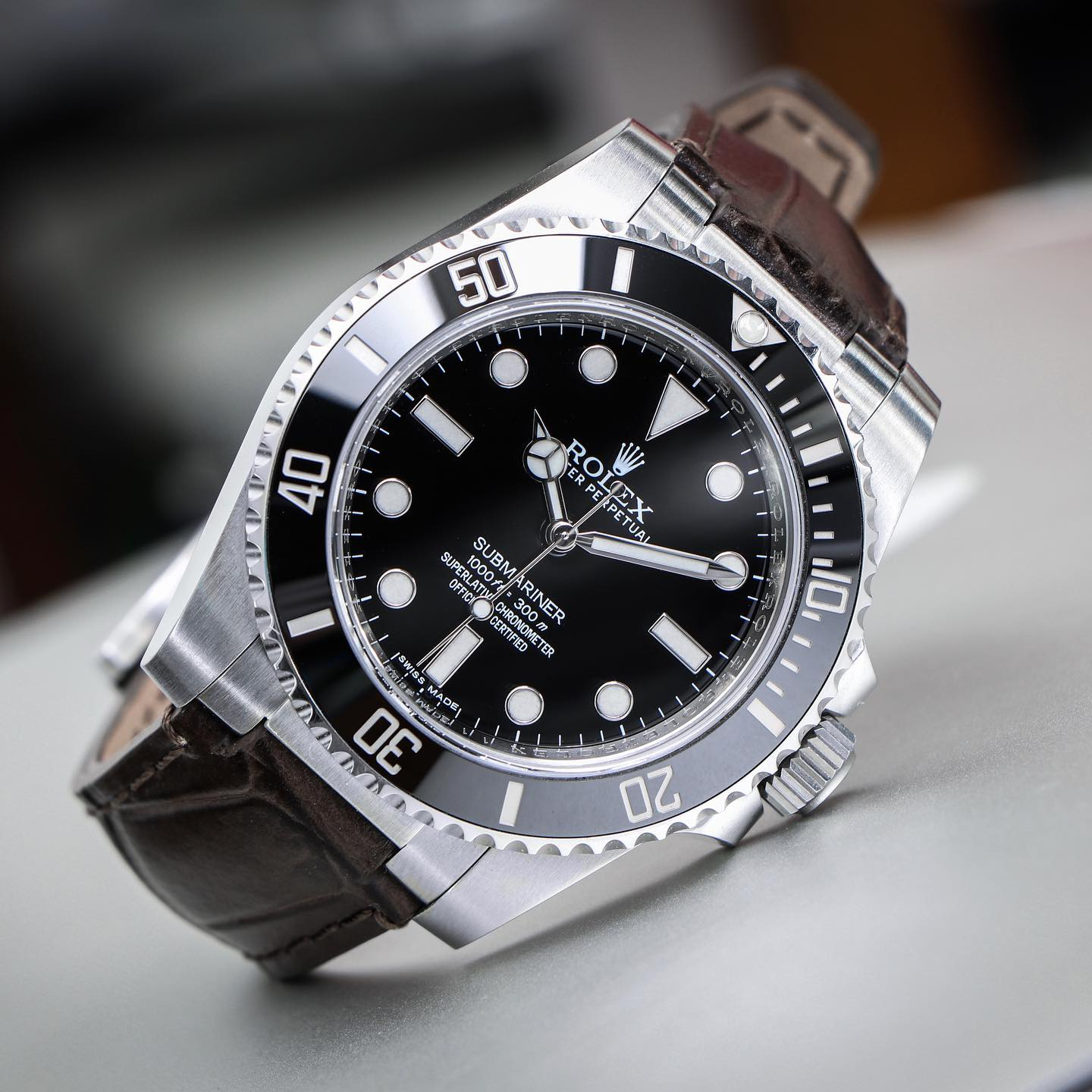 leather watch band on rolex submariner
