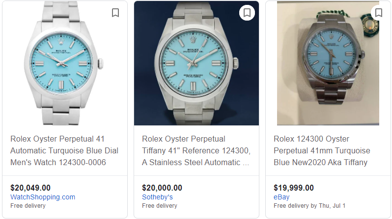 current price of rolex oyster perpetual 41mm in turquoise blue