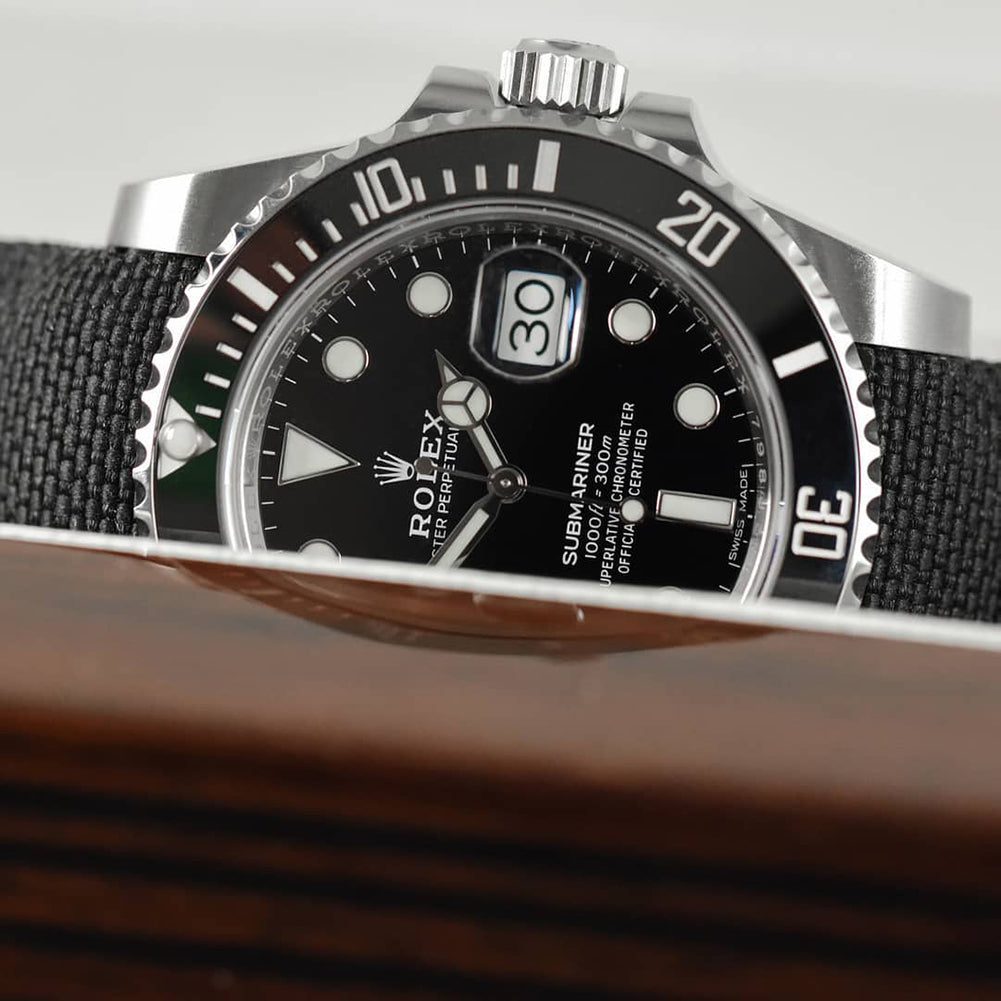 nylon watch band on rolex submarinerr