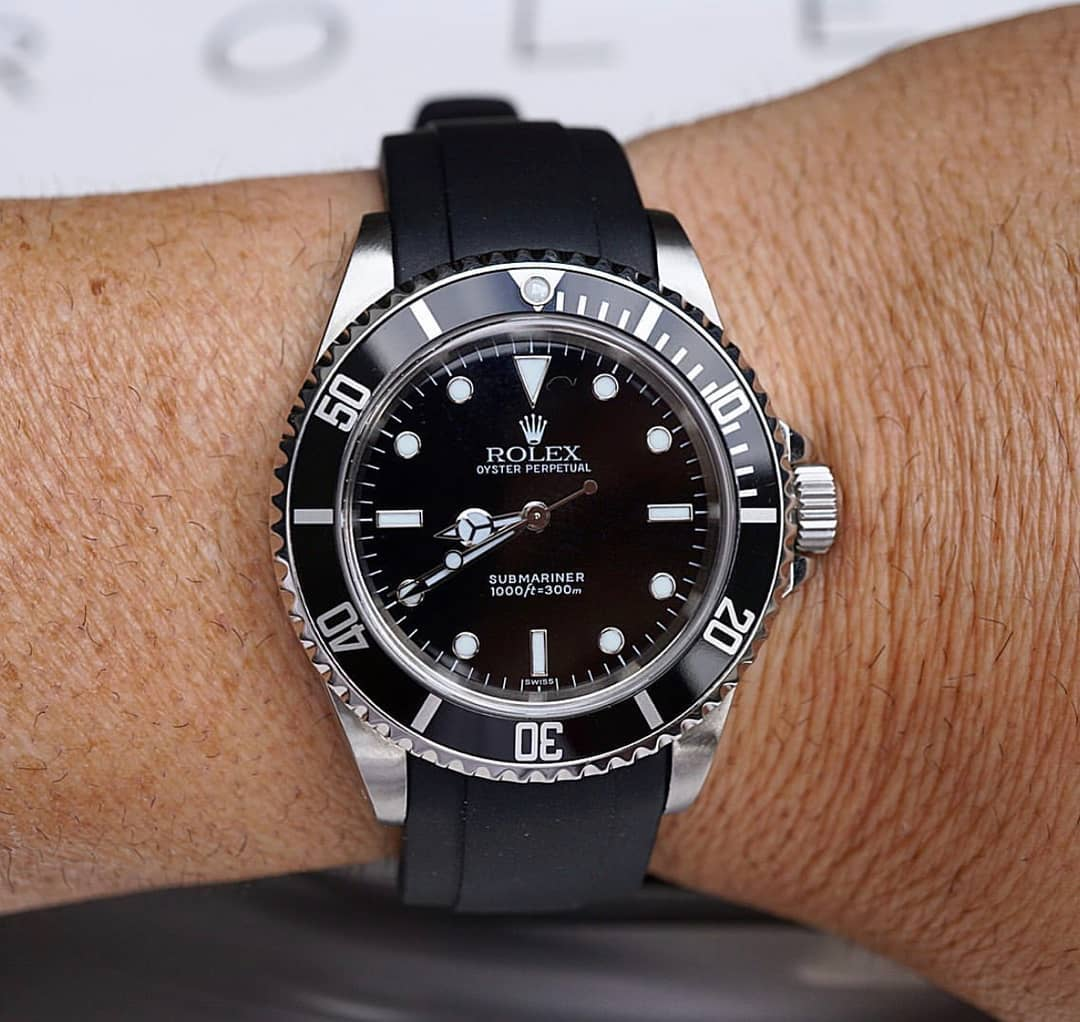 Everest rubber strap for Rolex Submariner 14060