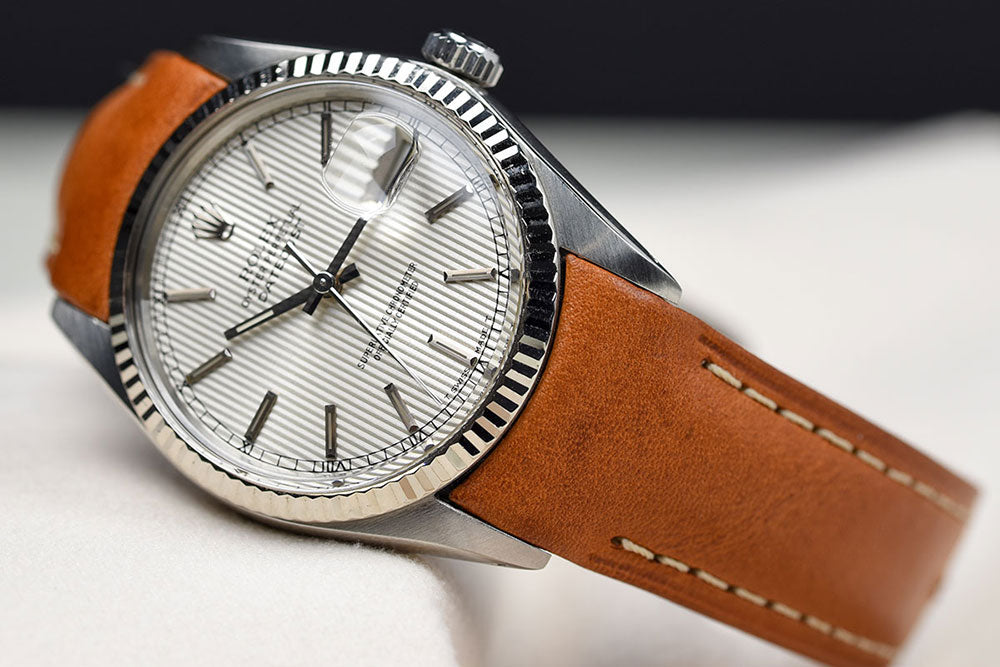 datejust leather watch band