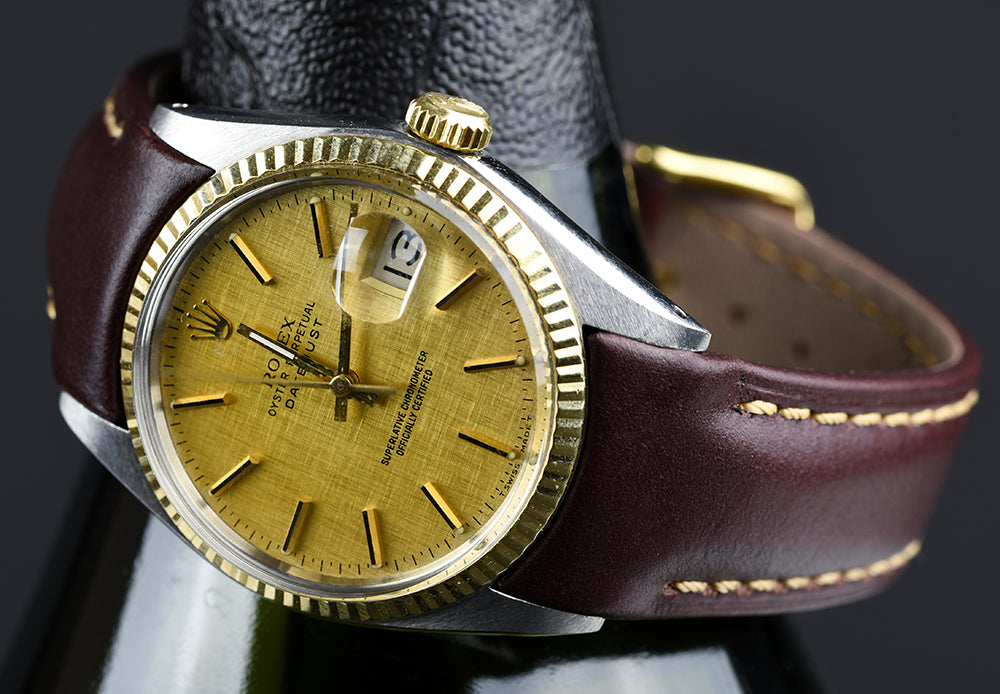 dateejust leather watch band