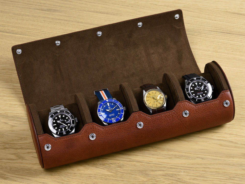 Heritage Brown Watch Roll