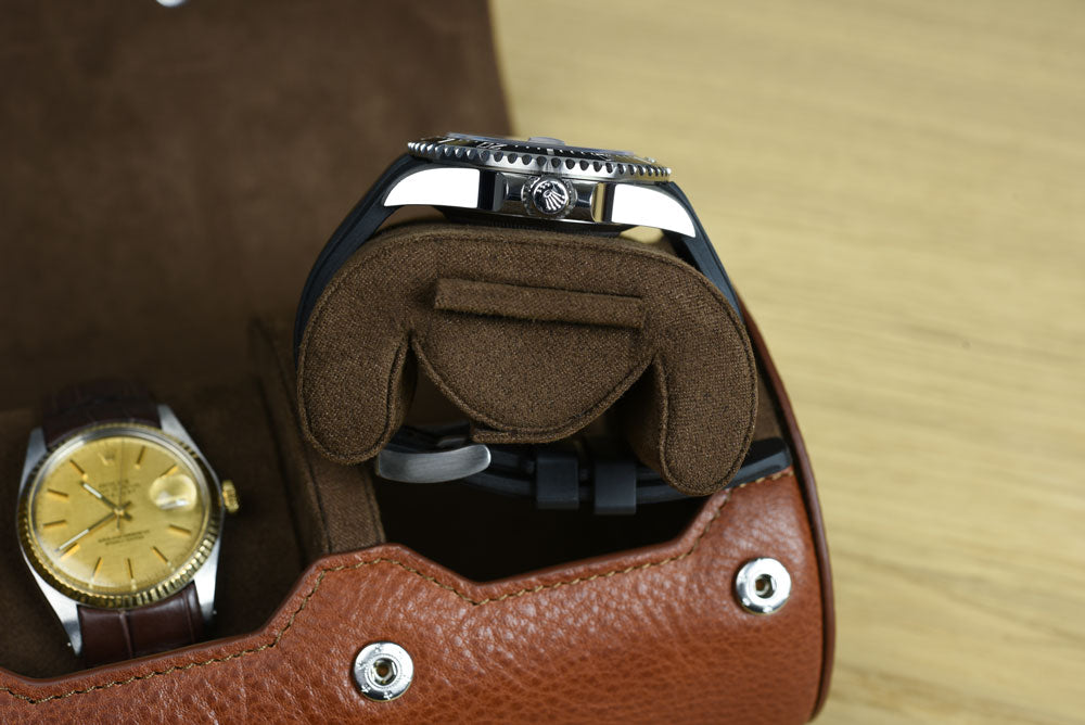 Heritage Brown Pillow Watch Roll