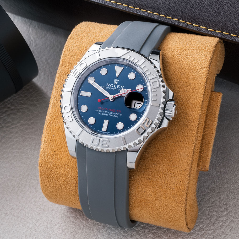 grey rubber on Rolex Yacht-master