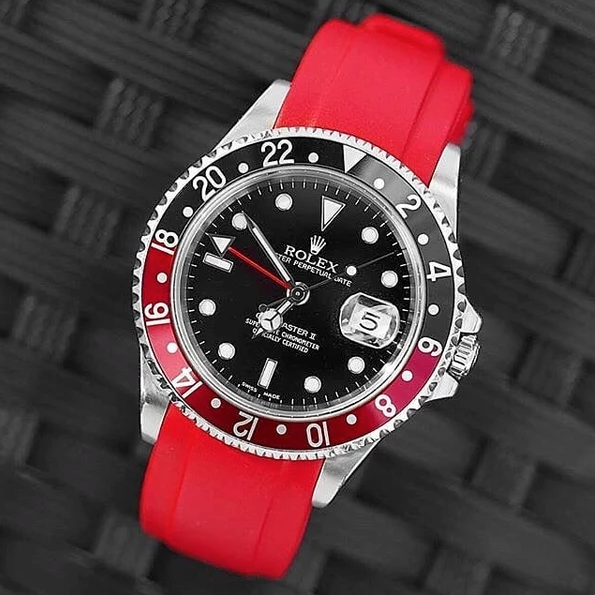 Rolex Coke red rubber watch band