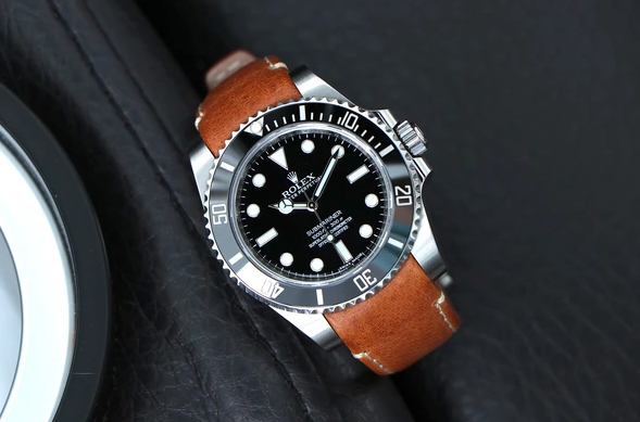 rolex submariner leather watch band
