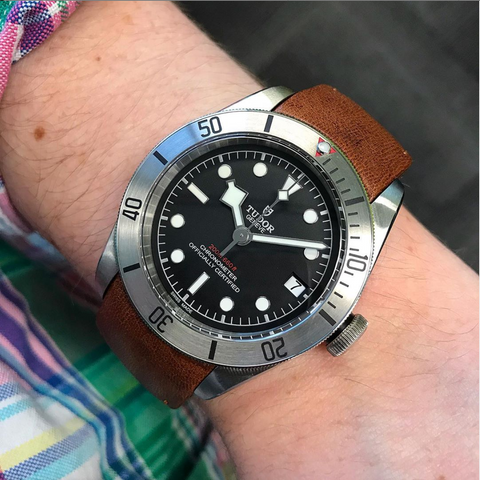 Tudor Black Bay Strap Guide for Rubber and Leather Bands
