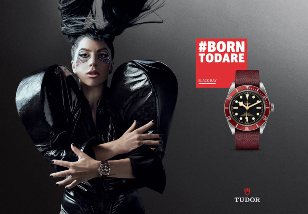 tudor watch band lady gaga
