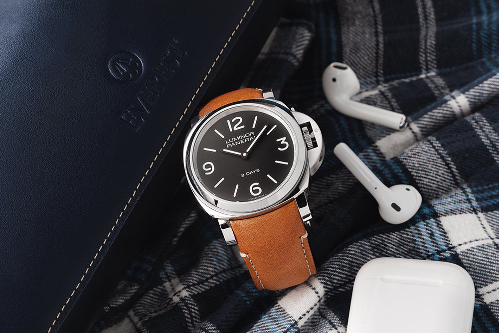 five leather options for panerai