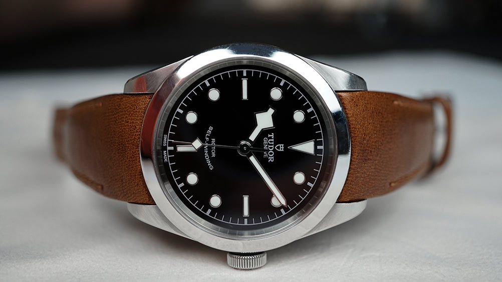tudor black bay 41 leather watch strap